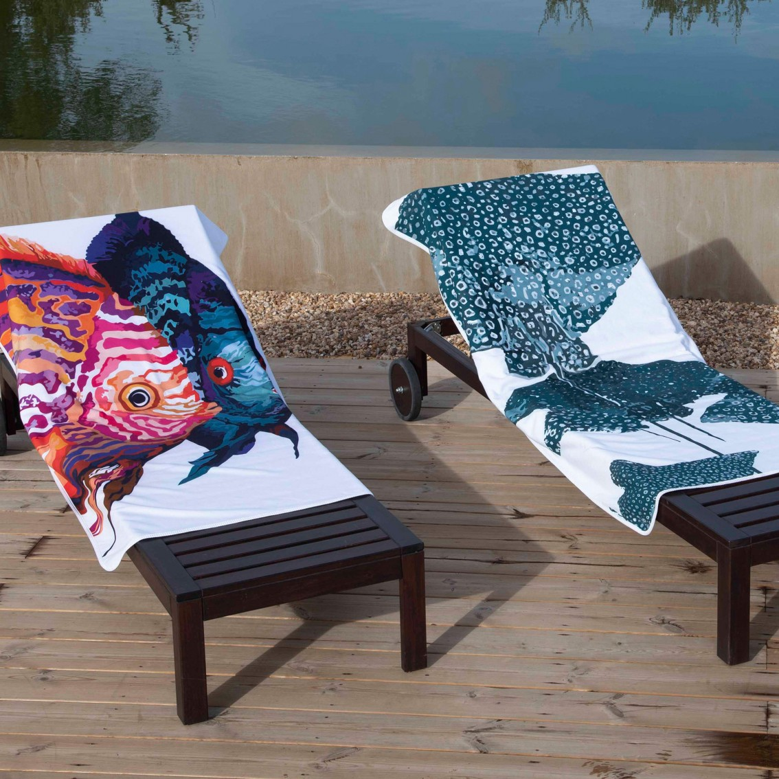 STING RAY BEACH TOWELS