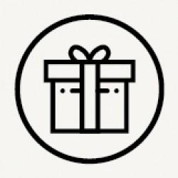 Empaquetado en una lujosa caja de regalo.